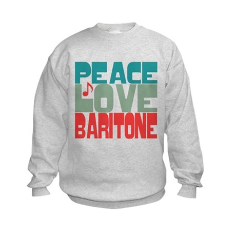 Peace Love Baritone Kids Sweatshirt