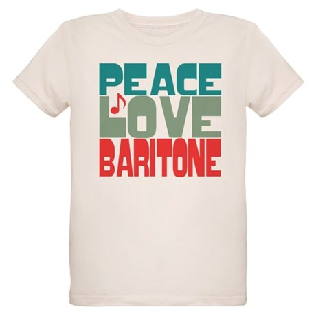 Peace Love Baritone Organic Kids T-Shirt