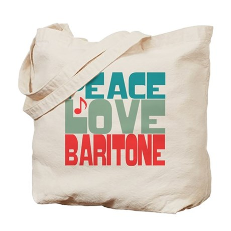 Peace Love Baritone Tote Bag