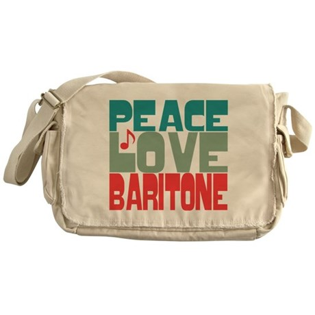 Peace Love Baritone Messenger Bag