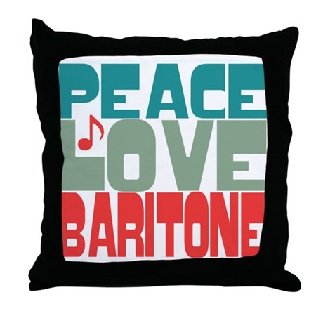 Peace Love Baritone Throw Pillow