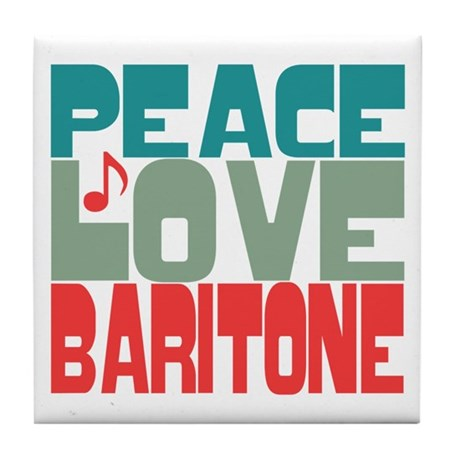 Peace Love Baritone Tile Coaster