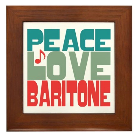 Peace Love Baritone Framed Tile