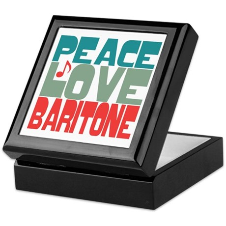Peace Love Baritone Keepsake Box