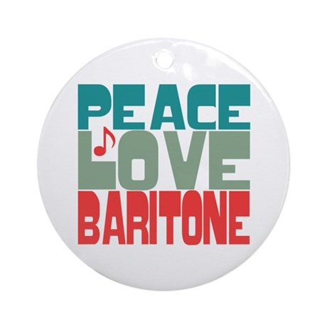 Peace Love Baritone Ornament (Round)