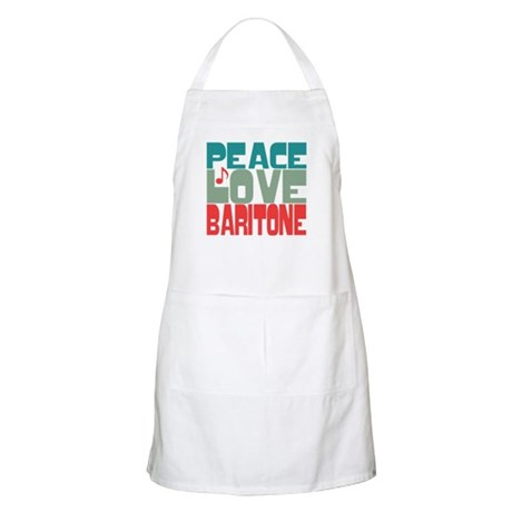 Peace Love Baritone Apron