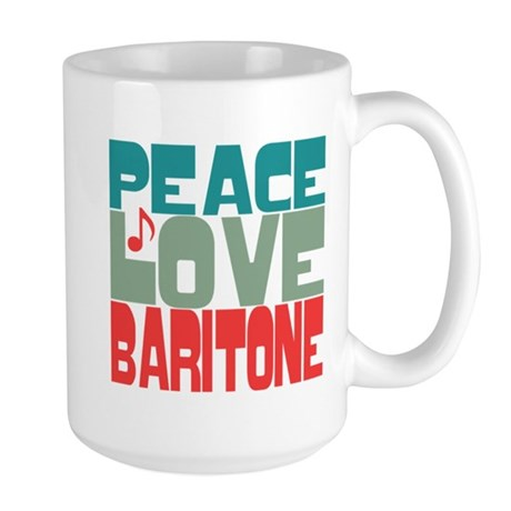 Peace Love Baritone Large Mug