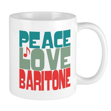 Peace Love Baritone Mug