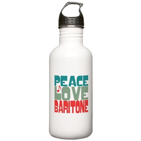 Peace Love Baritone Stainless Water Bottle 1.0L