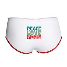 Peace Love Euphonium Women's Boy Brief
