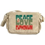 Peace Love Euphonium Messenger Bag