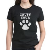 Trust Your Dog - Paw Print Tee