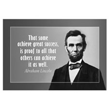 Abe Lincoln Quote on Success Wall Art