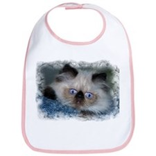 Blue-Eyed Himalayan Kitten on Bib