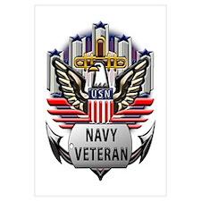 Official US Navy Veteran Wall Art
