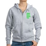 Come Back. Amish you. Women's Zip Hoodie