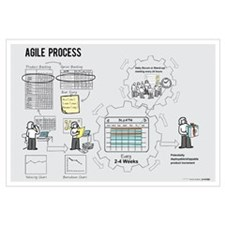 Small Agile Process Poster (Female)