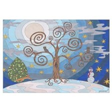 A Cold Winters Night Wall Art
