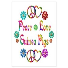 Peace Love Guinea Pigs Wall Art