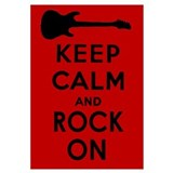 KEEP CALM AND ROCK ON Wall Art