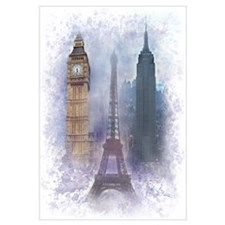 Eiffel Tower, Empire State and Big Ben Wall Art