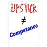 Lipstick not Competence Wall Art