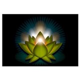 "Green ""Heart"" Chakra Lotus Wall Art"