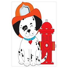 Dalmation Fire Dog Wall Art