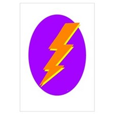 Lightning Bolt Logo Wall Art