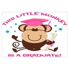 Girl Monkey Graduate Wall Art
