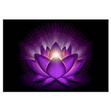 "Violet ""Crown"" Chakra Lotus Wall Art"
