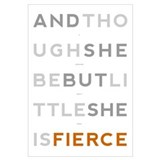 She is Fierce - Block Wall Art