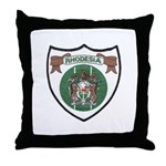 Rhody Coat of Arms Throw Pillow