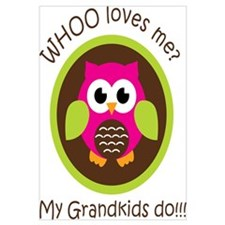 Grandkids Owl Wall Art