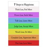 7 Steps to Happiness Poster