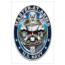 USN Master-At-Arms Skull MA B Wall Art