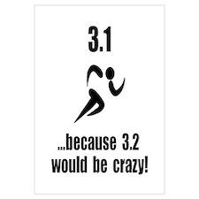 5K Run Crazy Wall Art