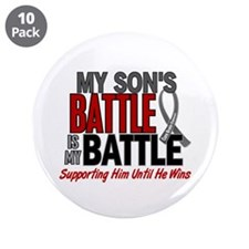 "My Battle Too Brain Cancer 3.5"" Button (10 pack)"