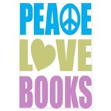 Peace Love Books Wall Art