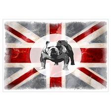 Union Jack and Bulldog Wall Art