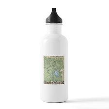 Yellowstone NP Topo Map Water Bottle