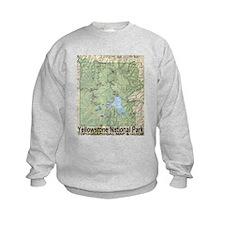 Yellowstone NP Topo Map Sweatshirt