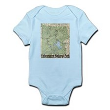 Yellowstone NP Topo Map Infant Bodysuit