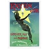 Poster advertising 'Rayon d'Or' lighting (colour l