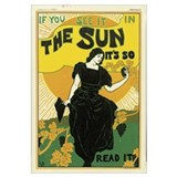 Poster advertising 'The Sun' newspaper, 1895 (colo