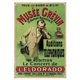 Poster advertising a concert at the Grevin Museum
