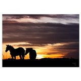 Cute Horse silhouette art Wall Art