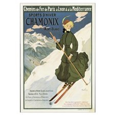 Poster advertising SNCF routes to Chamonix, 1910 (
