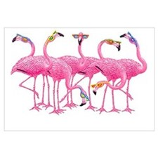 Cool Flamingoes Wall Art