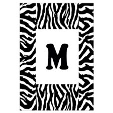 Zebra Print. Custom Letter. Wall Art
